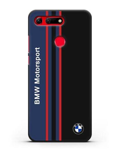 Чехол с надписью BMW Motorsport силикон черный для Honor View 20