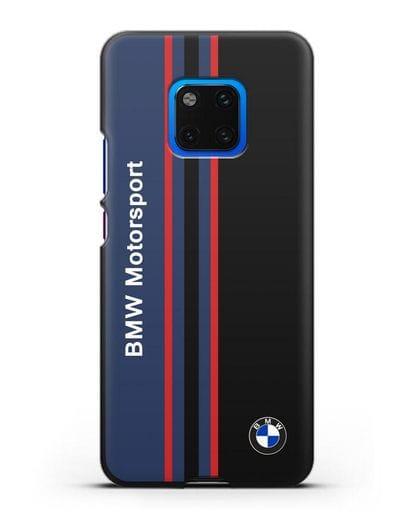Чехол с надписью BMW Motorsport силикон черный для Huawei Mate 20 Pro