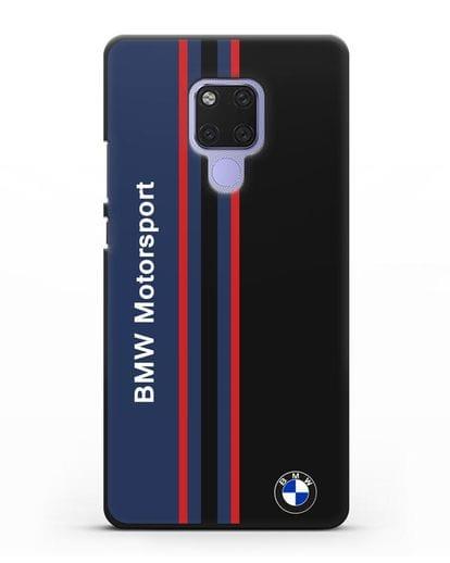 Чехол с надписью BMW Motorsport силикон черный для Huawei Mate 20X