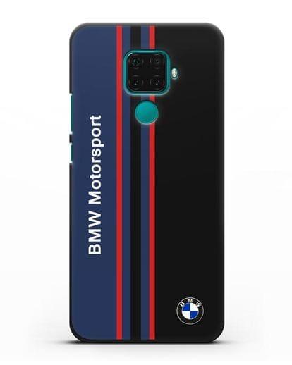Чехол с надписью BMW Motorsport силикон черный для Huawei Mate 30 Lite