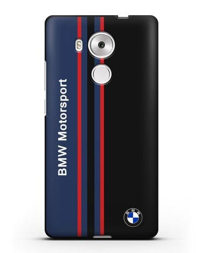 Чехол с надписью BMW Motorsport силикон черный для Huawei Mate 8