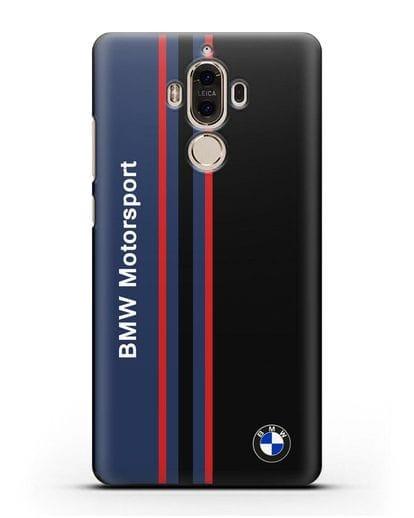 Чехол с надписью BMW Motorsport силикон черный для Huawei Mate 9