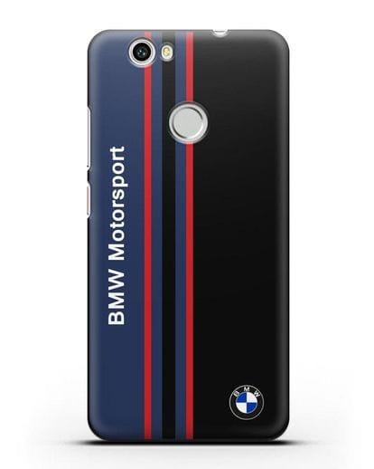 Чехол с надписью BMW Motorsport силикон черный для Huawei Nova