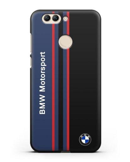 Чехол с надписью BMW Motorsport силикон черный для Huawei Nova 2 Plus