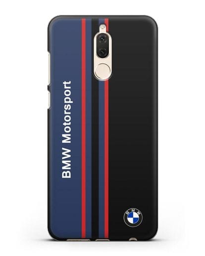 Чехол с надписью BMW Motorsport силикон черный для Huawei Nova 2