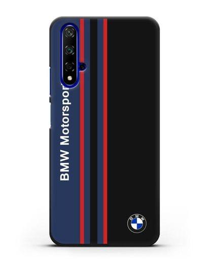 Чехол с надписью BMW Motorsport силикон черный для Huawei Nova 5T