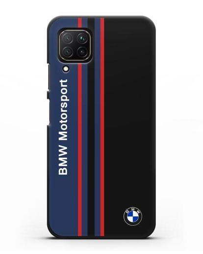 Чехол с надписью BMW Motorsport силикон черный для Huawei Nova 7i