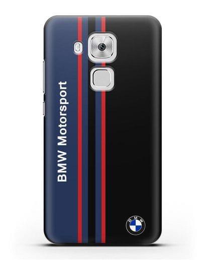 Чехол с надписью BMW Motorsport силикон черный для Huawei Nova Plus