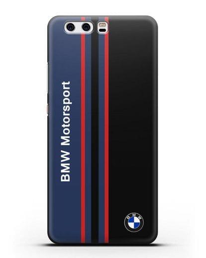 Чехол с надписью BMW Motorsport силикон черный для Huawei P10