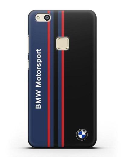 Чехол с надписью BMW Motorsport силикон черный для Huawei P10 Lite