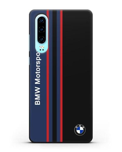Чехол с надписью BMW Motorsport силикон черный для Huawei P30