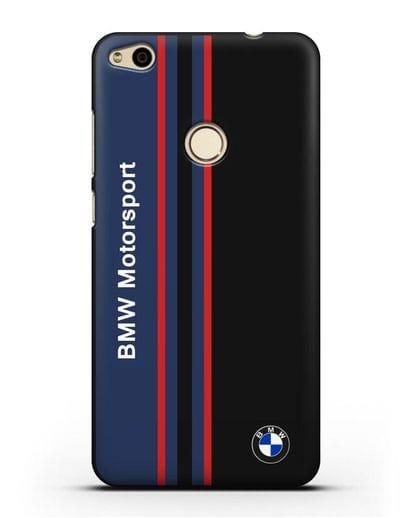 Чехол с надписью BMW Motorsport силикон черный для Huawei P8 Lite 2017