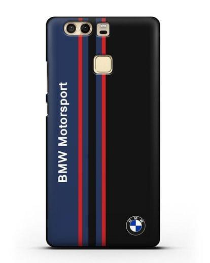 Чехол с надписью BMW Motorsport силикон черный для Huawei P9