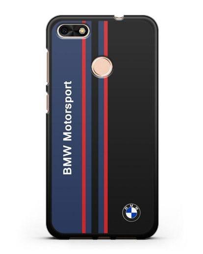 Чехол с надписью BMW Motorsport силикон черный для Huawei P9 Lite mini
