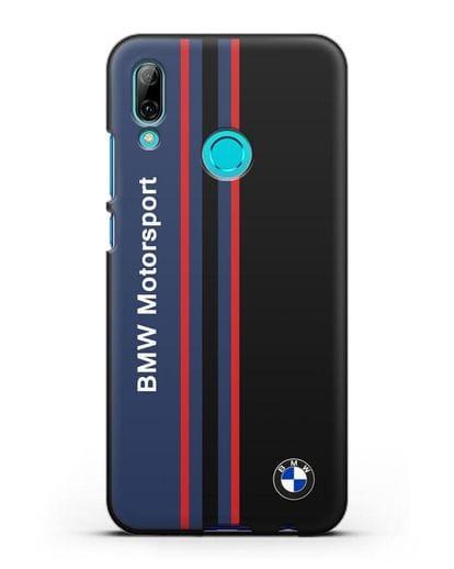 Чехол с надписью BMW Motorsport силикон черный для Huawei P Smart 2019