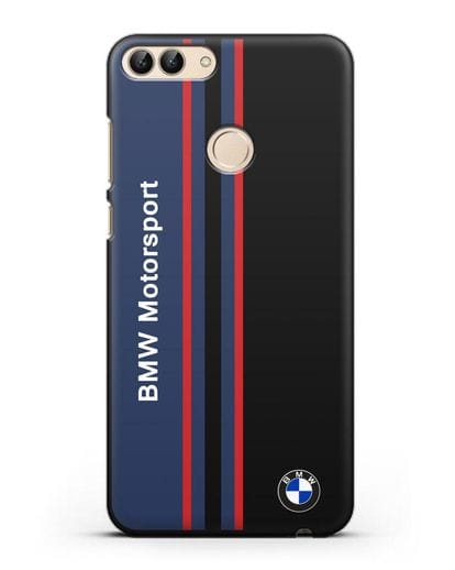 Чехол с надписью BMW Motorsport силикон черный для Huawei P Smart