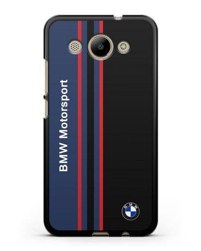 Чехол с надписью BMW Motorsport силикон черный для Huawei Y3 2017