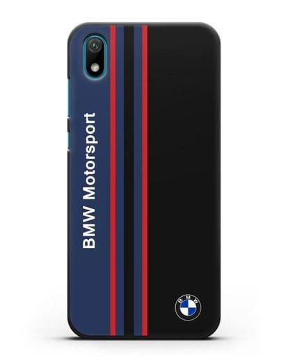 Чехол с надписью BMW Motorsport силикон черный для Huawei Y5 2019