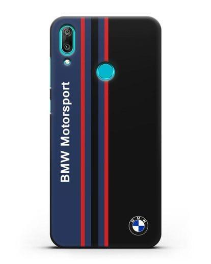 Чехол с надписью BMW Motorsport силикон черный для Huawei Y7 2019