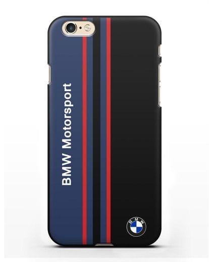 Чехол с надписью BMW Motorsport силикон черный для iPhone 6s