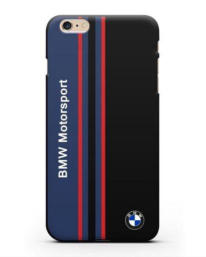 Чехол с надписью BMW Motorsport силикон черный для iPhone 6s Plus