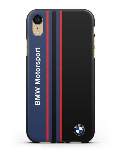Чехол с надписью BMW Motorsport силикон черный для iPhone XR
