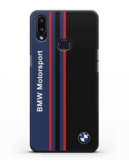 Чехол с надписью BMW Motorsport силикон черный для Samsung Galaxy A10s [SM-F107F]