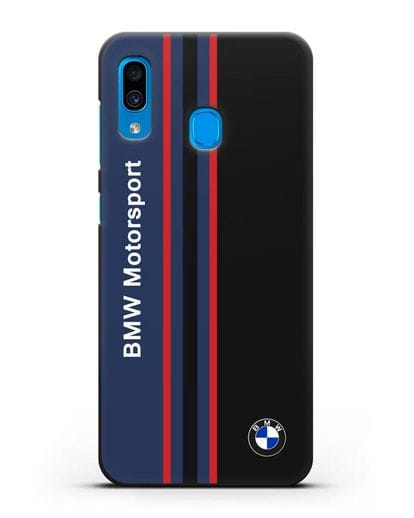Чехол с надписью BMW Motorsport силикон черный для Samsung Galaxy A30 [SM-A305FN]