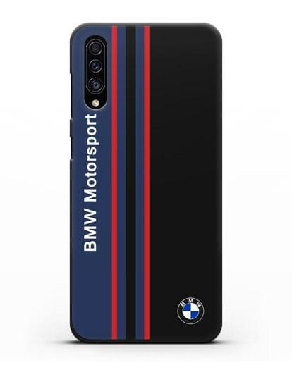 Чехол с надписью BMW Motorsport силикон черный для Samsung Galaxy A30s [SM-A307FN]