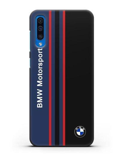 Чехол с надписью BMW Motorsport силикон черный для Samsung Galaxy A50 [SM-A505F]