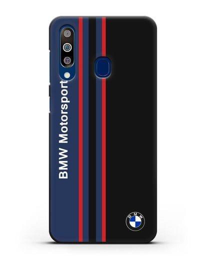 Чехол с надписью BMW Motorsport силикон черный для Samsung Galaxy A60 [SM-A606F]