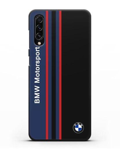 Чехол с надписью BMW Motorsport силикон черный для Samsung Galaxy A70s [SM-A707F]