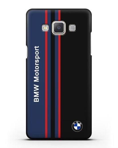 Чехол с надписью BMW Motorsport силикон черный для Samsung Galaxy A7 2015 [SM-A700F]