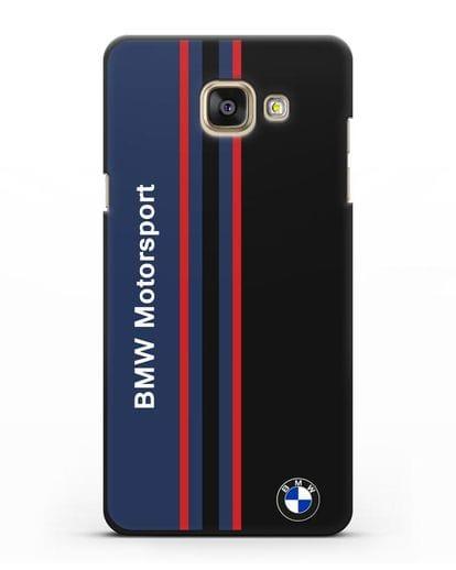 Чехол с надписью BMW Motorsport силикон черный для Samsung Galaxy A7 2016 [SM-A710F]