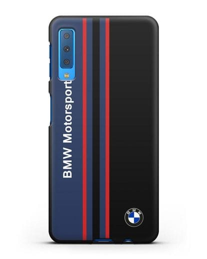 Чехол с надписью BMW Motorsport силикон черный для Samsung Galaxy A7 2018 [SM-A750F]