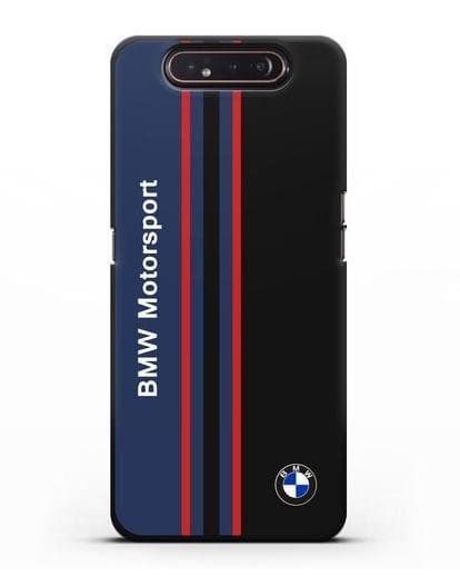 Чехол с надписью BMW Motorsport силикон черный для Samsung Galaxy A80 [SM-A805F]