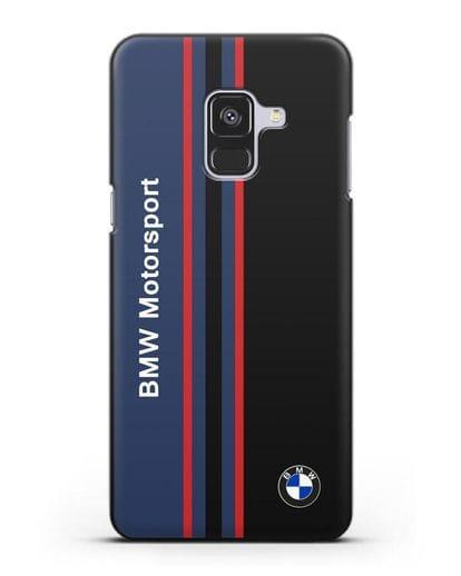 Чехол с надписью BMW Motorsport силикон черный для Samsung Galaxy A8 Plus [SM-A730F]