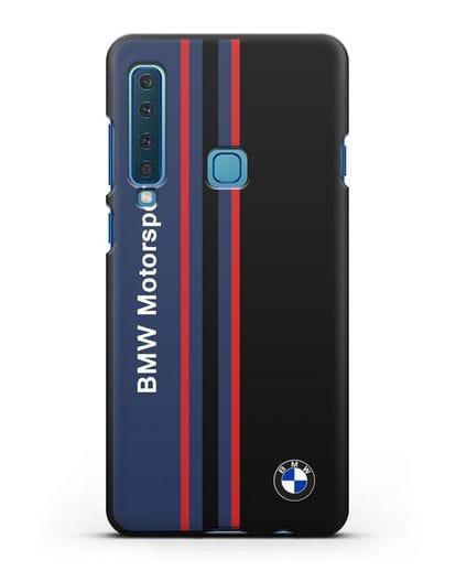 Чехол с надписью BMW Motorsport силикон черный для Samsung Galaxy A9 (2018) [SM-A920]