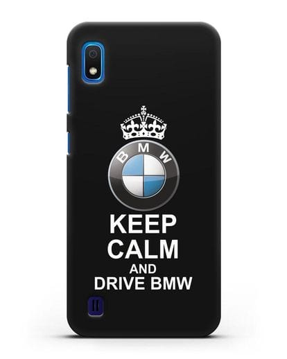 Чехол с надписью Keep Calm and Drive BMW силикон черный для Samsung Galaxy A10 [SM-A105F]