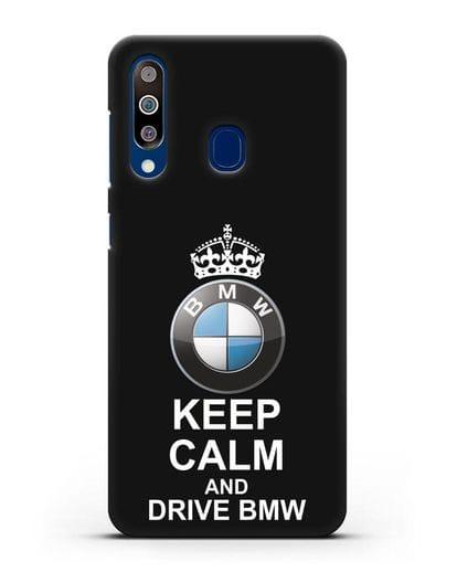 Чехол с надписью Keep Calm and Drive BMW силикон черный для Samsung Galaxy A60 [SM-A606F]