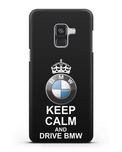 Чехол с надписью Keep Calm and Drive BMW силикон черный для Samsung Galaxy A8 [SM-A530F]