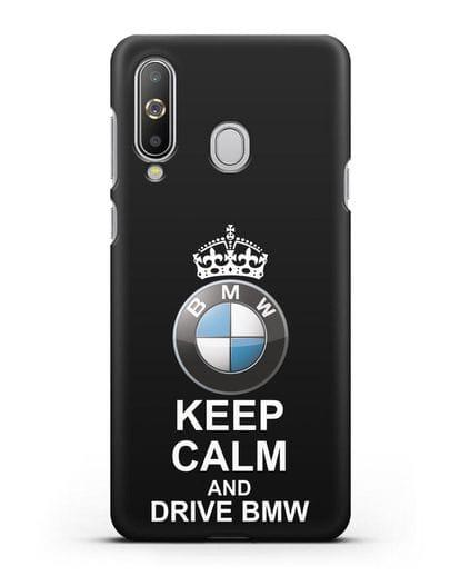 Чехол с надписью Keep Calm and Drive BMW силикон черный для Samsung Galaxy A8s [SM-G8870]