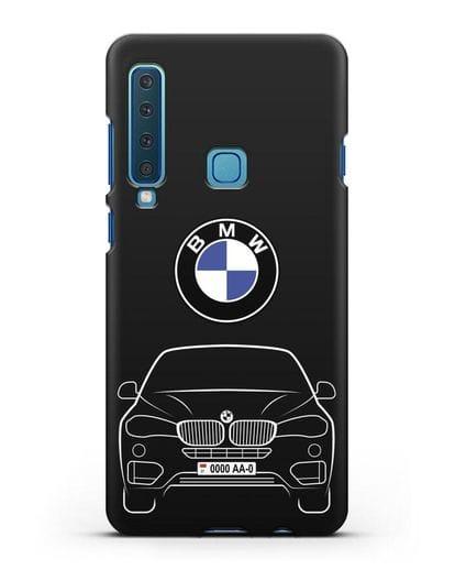Чехол BMW X6 с автомобильным номером силикон черный для Samsung Galaxy A9 (2018) [SM-A920]