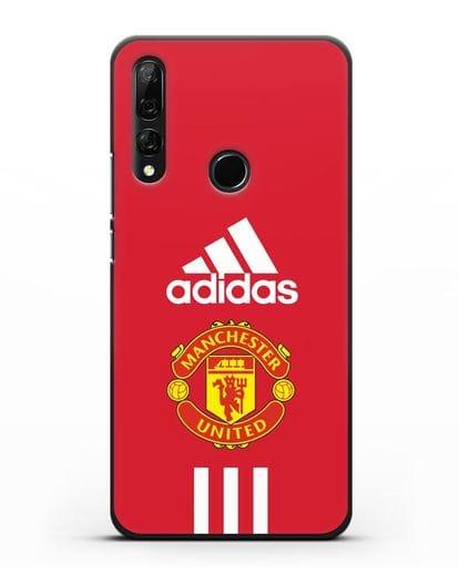 Чехол Manchester United Adidas силикон черный для Honor 9X