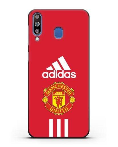 Чехол Manchester United Adidas силикон черный для Samsung Galaxy M30 [SM-M305F]