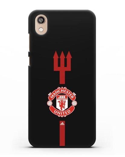Чехол Манчестер Юнайтед с трезубцем силикон черный для Honor 8S