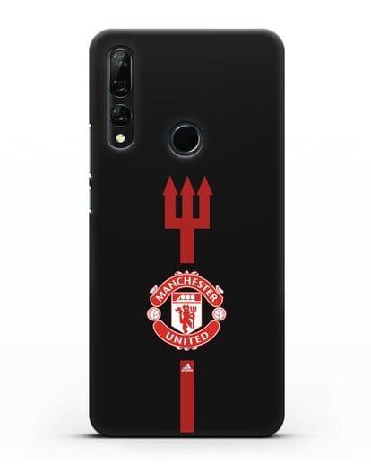 Чехол Манчестер Юнайтед с трезубцем силикон черный для Honor 9X