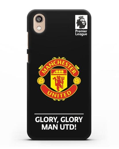 Чехол Манчестер Юнайтед с надписью GLORY, GLORY MAN UTD силикон черный для Honor 8S