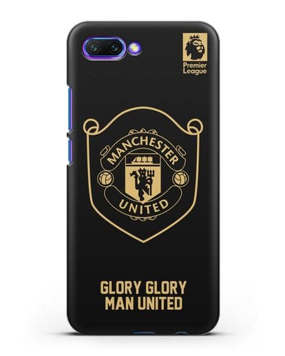 Чехол с золотым логотипом Manchester United с надписью GLORY, GLORY MAN UNITED силикон черный для Honor 10