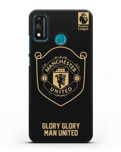 Чехол с золотым логотипом Manchester United с надписью GLORY, GLORY MAN UNITED силикон черный для Honor 9X lite